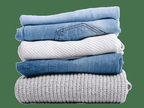 Stack of neatly folded laundry